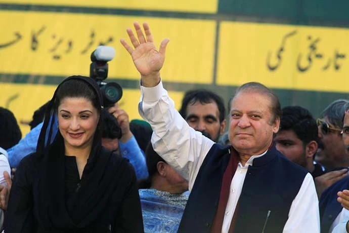 Not without a fight: Nawaz Sharif and daughter Maryam have decided to return to Pakistan and face the jail term.