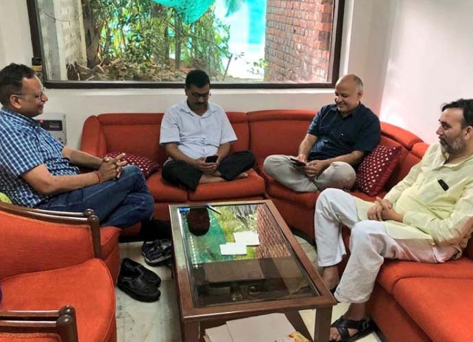 Kejriwal with his ministers had staged a sit-in protest at the L-G's residence.