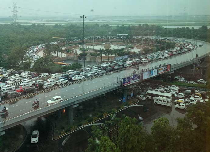 No flyover was enough to save Delhi residents from waterlogging woes.