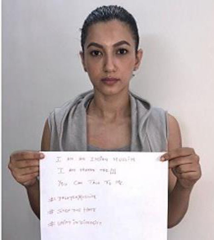 Actors like Gauhar Khan have joined in on the trend. (Photo: Twitter)
