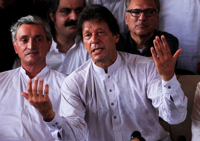 With the Sharifs out of the way, the road is likely to get easier for the establishment's ladla, Imran Khan. Photo: Reuters