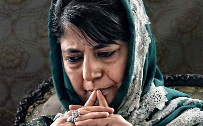 Mehbooba has accused the BJP of trying to engineer a revolt in the PDP.