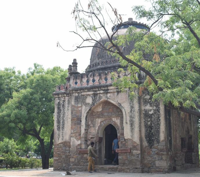A Lodi period tomb at Lado Sarai in Delhi.