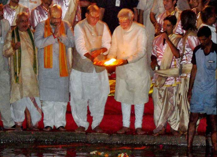 Prime Minister Narendra Modi had performed a Ganga aarti at Varanasi soon after his swearing-in.