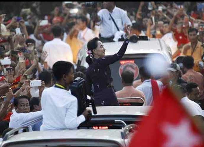 Suu Kyi does not have control over the Army. But she does have moral authority and popularity. (Photo: Reuters)