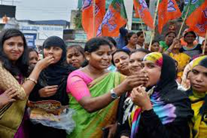 After another important SC verdict, on triple talaq, the BJP had hit the streets to celebrate.