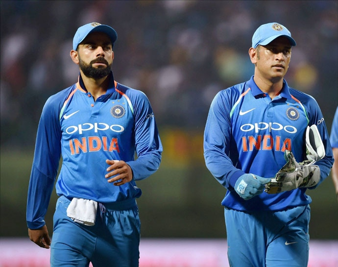 Captain Kohli is often seen consulting MSD on the field.
