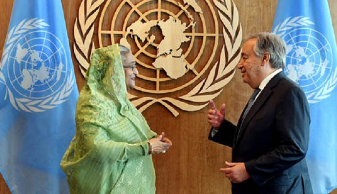 Sheikh Hasina was praised for her handling of the Rohingya refugee crisis.