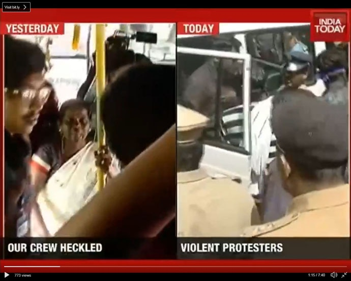 India Today reporter Mausami Singh was physically assaulted over the Sabarimala protest.