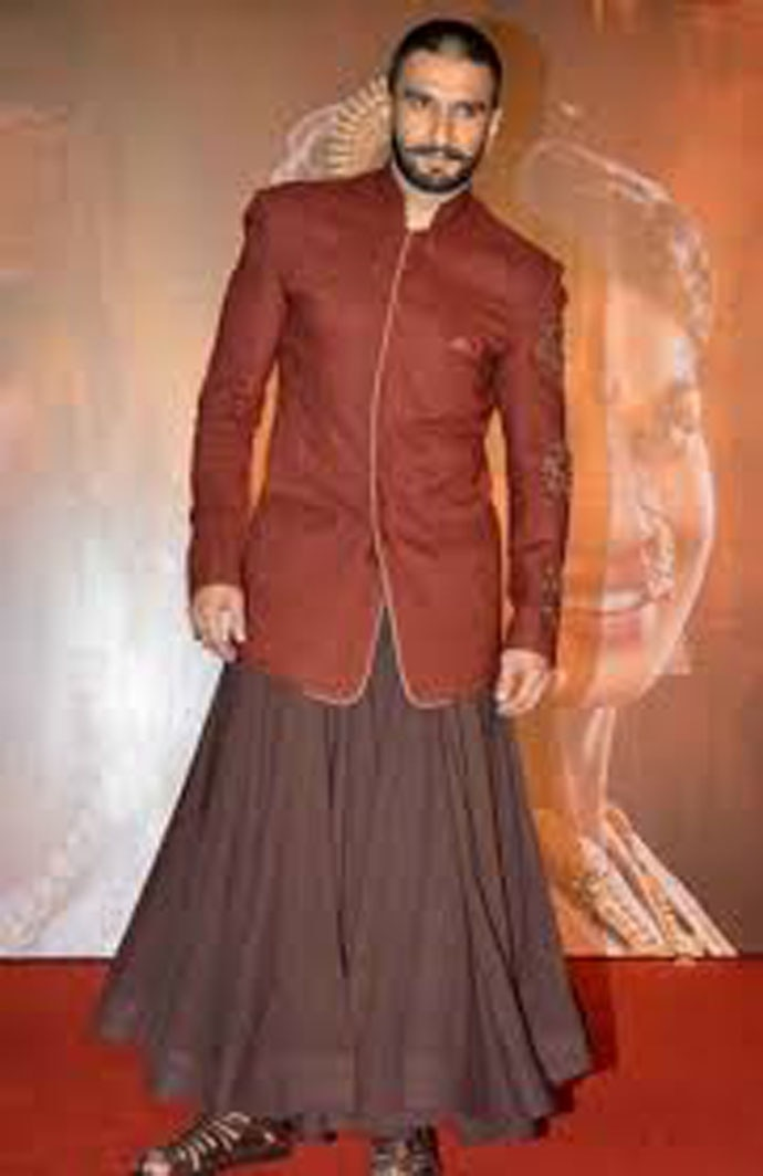 What he wears is confidence: Ranveer Singh is not exactly a stranger to lehengas. (Photo: India Today)