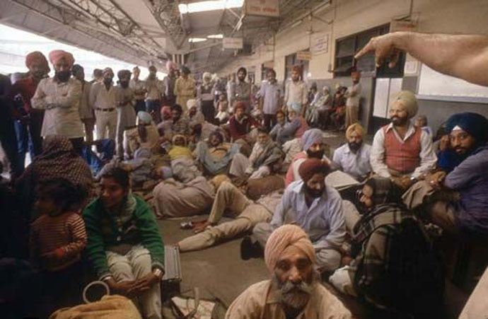 Thousands of Sikhs took shelter at railway stations, makeshift relief camps, gurdwaaras. Even though their homes were burnt, the government soon made them vacate relief camps, to give the impression that 'normalcy' had been restored.