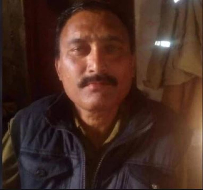 Constable Suresh Vats was killed by a stone-pelting mob on December 29.