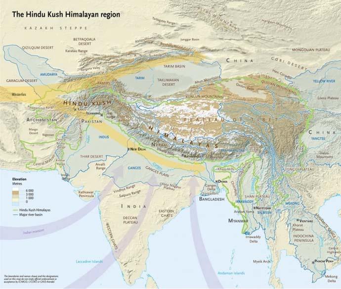 Deluge To Drought: Ice melt in the Himalayas and Hindu Kush ... on israel india map, sulaiman range india map, kanpur india map, karakoram india map, bangladesh india map, indus river india map, arabian sea india map, sri lanka india map, harappa india map, thailand india map, pakistan india map, naga hills india map, mount everest india map, bhutan india map, western ghats india map, bolan pass india map, khyber pass map, islamabad india map, kashmir india map, k2 india map,