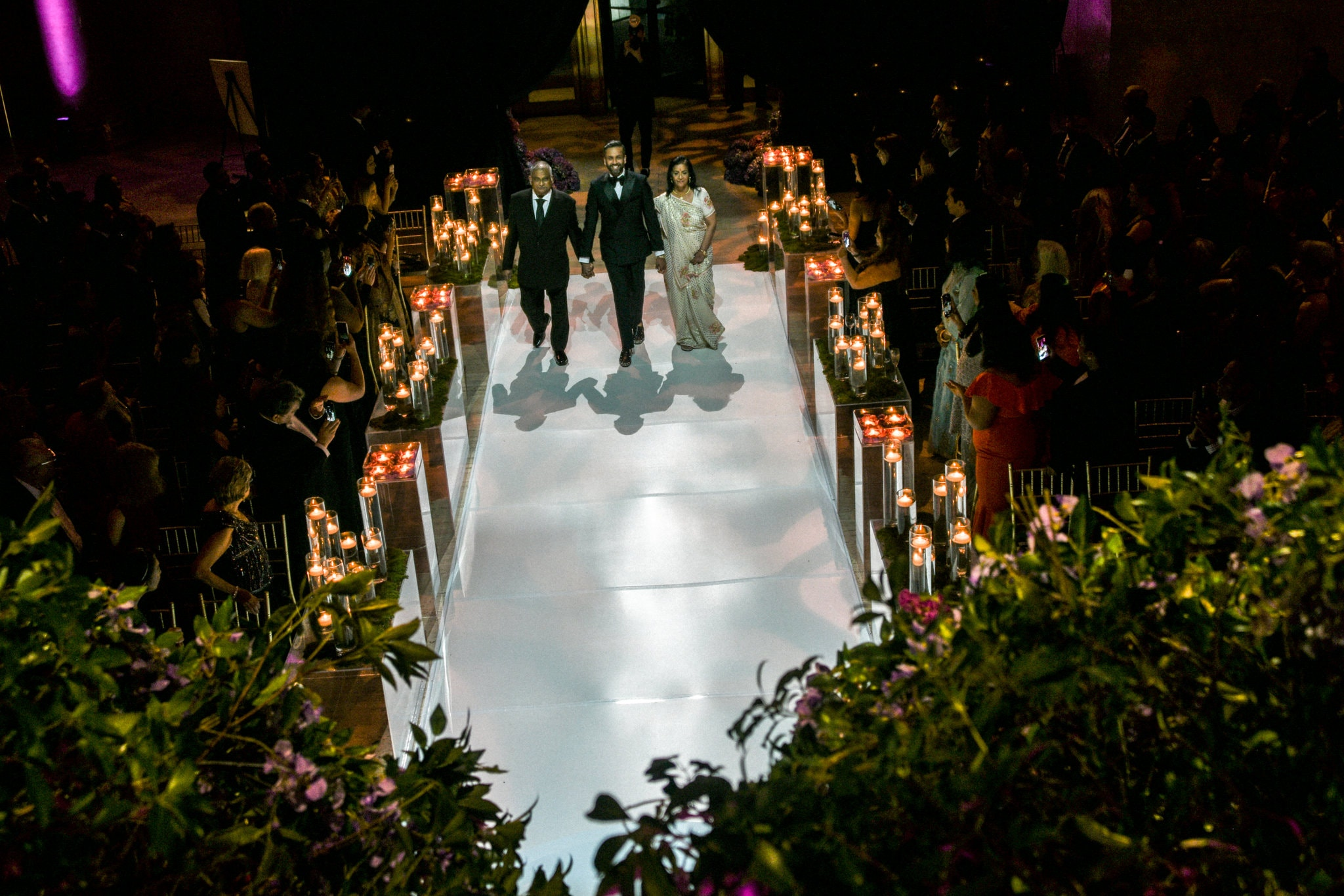 The couple make an entry to their reception