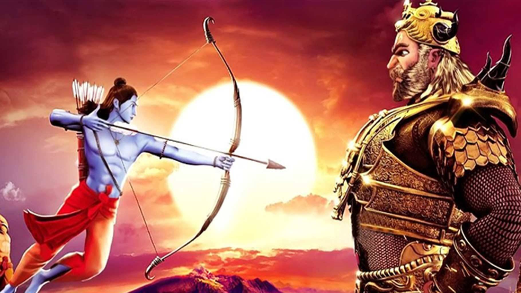 Image result for ra and ravan fight