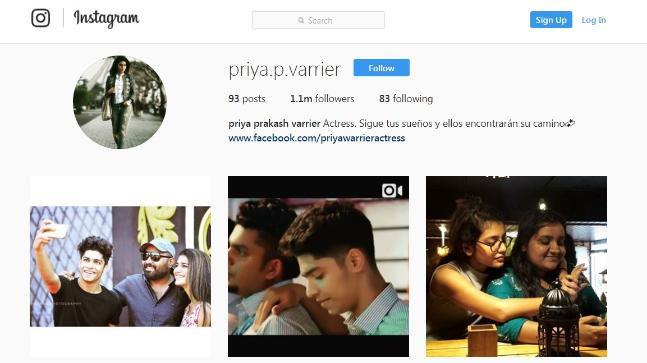 प्रिया, Manikya Malaraya Poovi, Oru Adaar Love