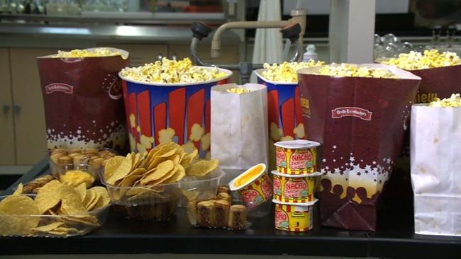movie, popcorn