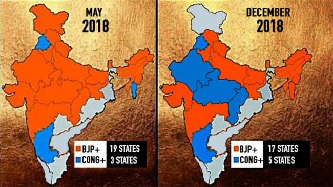 भाजपा, कांग्रेस, चुनाव नतीजे