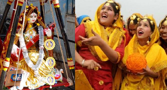 बसंत पंचमी में मां सरस्वती की पूजा सबसे पहले कृष्ण ने की थी.