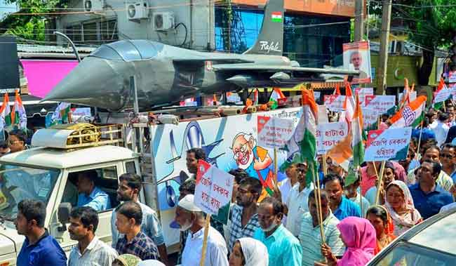 rafale deal protest
