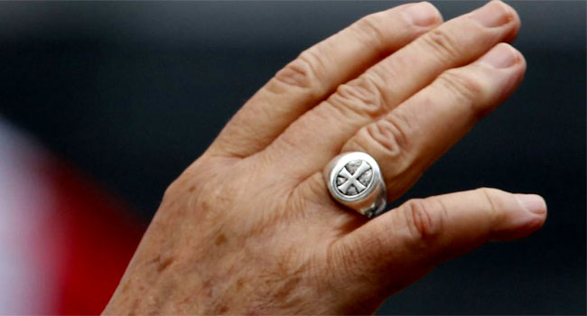 pope fransis ring