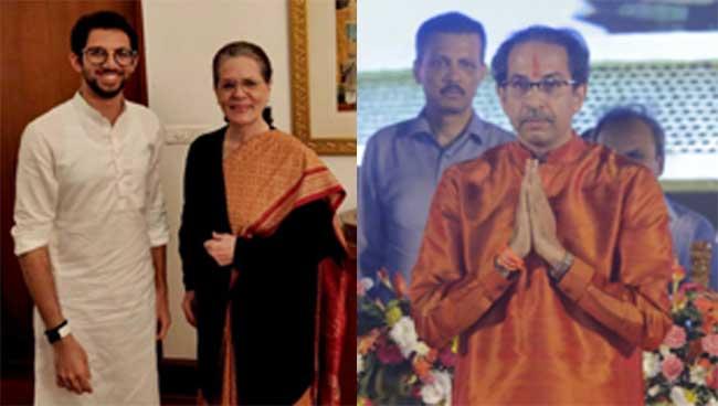 aditya thackeray, sonia gandhi, uddhav thackeray
