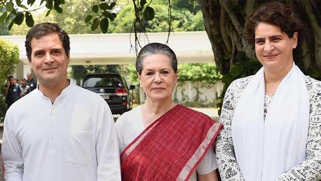 sonia, rahul and priyanka gandhi