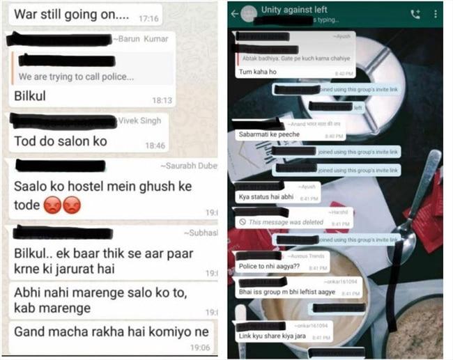JNU Violence Whatsapp Fake Chats