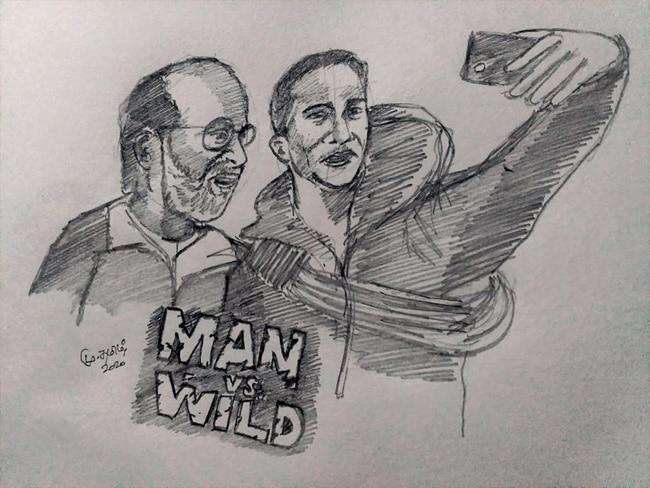 Rajnikanth with Bear Grylls in Man vs Wild