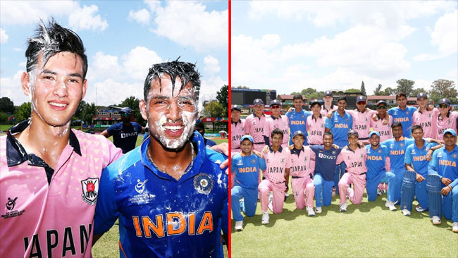 U-19 world cup India Won by 10 Wickets from Japan