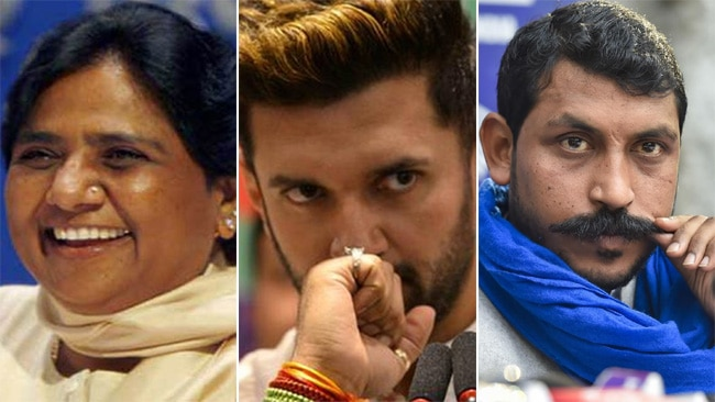 chirag paswan, mayawati, chandrashekhar azad