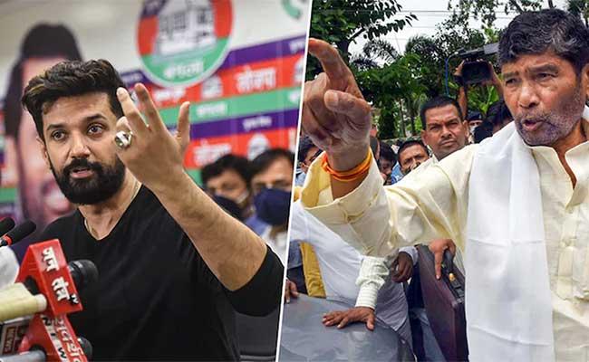 Chirag Paswan, Pashupati Paras, Ramvilas Paswan, LJP, Nitish Kumar, JDU, BJP