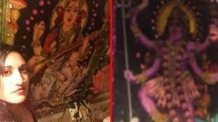 हिन्दू देवी-देवताओं की तस्वीर क्यों लगाई गई अमेरिका के टॉयलेट में...