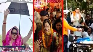 छाते से लेकर स्टैचू प्रचार तक, गर्मियों से बचने के लिए ये सब कर रहे नेता