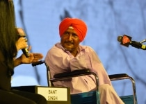 Bant Singh at The India Today Conclave