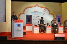 Shantilal Jain at the India Today Sahitya Varshiki Rachna Utsav