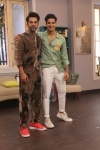 Mumbai  Actor Rajkummar Rao and Ishaan Khattar on the sets of actress Neha Dhupias show  Vogue BFFs Season 3  in Mumbai  on April 11  2019  Photo  IANS