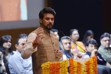 Anurag Thakur at Social media meeting