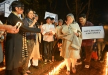 Candle March against the gang rape