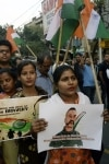 Kolkata  People celebrate as 35 year old IAF Wing Commander Abhinandan Varthaman returns back to India  in Kolkata on March 2  2019 He was captured on Wednesday by Pakistan after his MiG 21 Bison fighter jet was hit by Pakistan Air Force jets near t