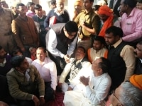 Noida  BJP Legislator Rakesh Singh Baghel stages a sit in demanding action against district and police officials  who lathicharged his supporters  in Noida on March 7  2019 He was roughed up by Bharatiya Janata Party  BJP  MP from Sant Kabir Nagar S