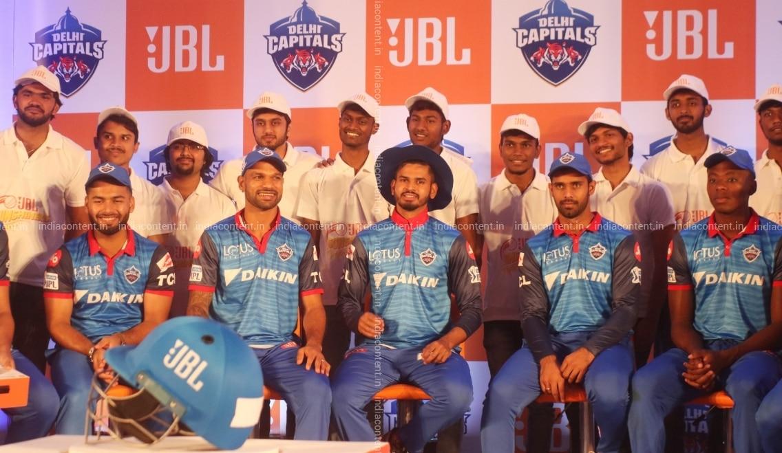 Buy New Delhi Delhi Capitals Captain Shreyas Iyer And Team Players Rishabh Pant Shikhar Dhawan Hanuma Vihari Kagiso Rabada With The Players Of Jbl Sunshiners Ahead Of A Friendly Cricket Match Between