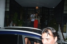 Mumbai  Actors Arjun Kapoor and Malaika Arora seen at a club in Mumbais Juhu  on Feb 6  2019  Photo  IANS