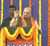 Bambolim  BJP chief Amit Shah addresses a party meeting in Goas Bambolim  on Feb 9  2019  Photo  IANS BJP