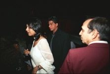 Indian Actor  Shahrukh Khan with his wife  Gauri Khan