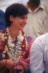 Priyanka Gandhi during a public meet