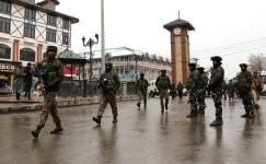 Security has been tightened up all across the Kashmir valley ahead of the Republic Day