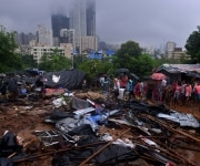 Wall Collapses due to Heavy Rain in Mumbai