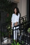 Mumbai  Actress Rhea Chakraborty seen at actor Sushant Singh Rajputs residence in Mumbais Bandra  on May 3  2019  Photo  IANS