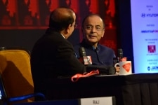Arun Jaitley speaks at the session  Hard Choices  Air Strikes. And the pros and cons of breaking the Pakistan impasse